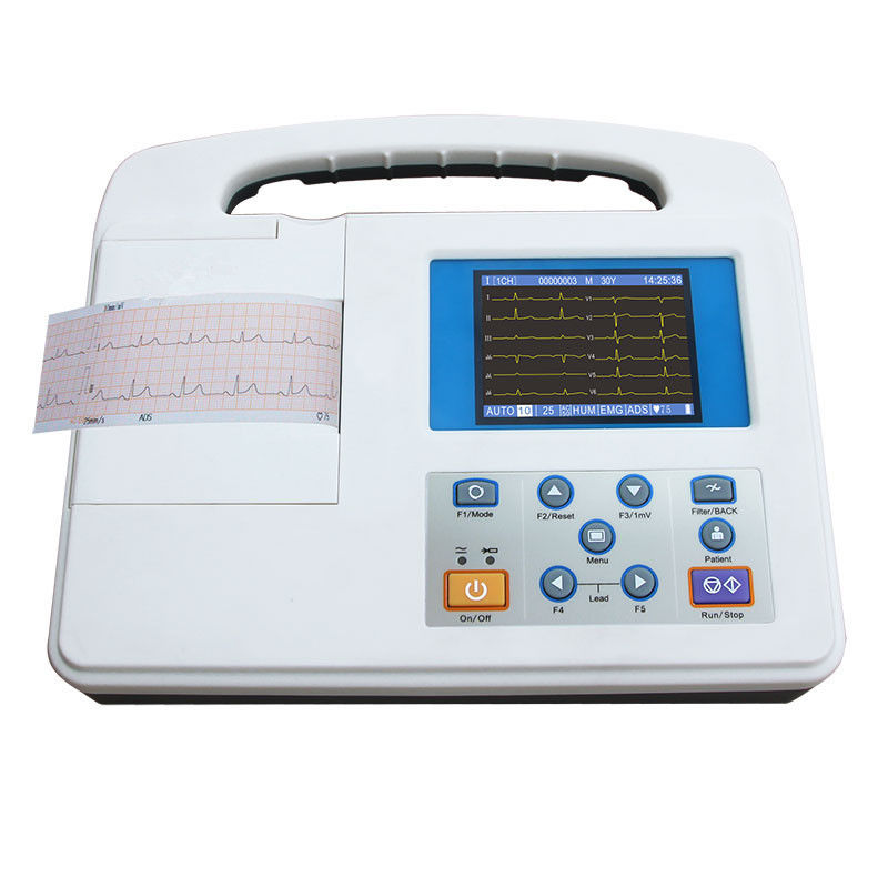 Single channel ECG Monitoring System 12 Leads Record 3.5 Inch Color Display LCD