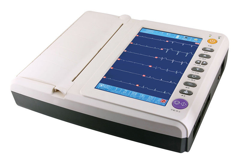 Six Languages 12 Channel High storage ECG Monitoring System 10ch Color Touch Display
